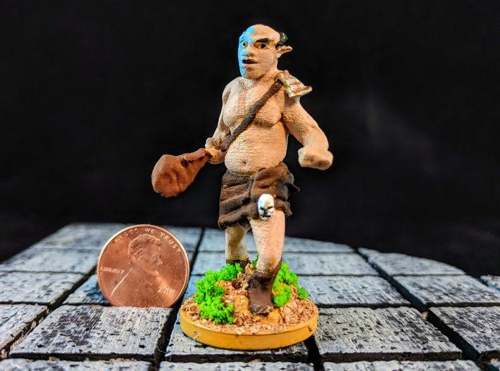 Hill Ogre 3d printed This is an example of the model painted with a modified base.