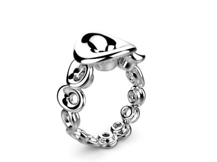 Ring Mo-At Easy Avatar (From $14) 3d printed Silber Ring