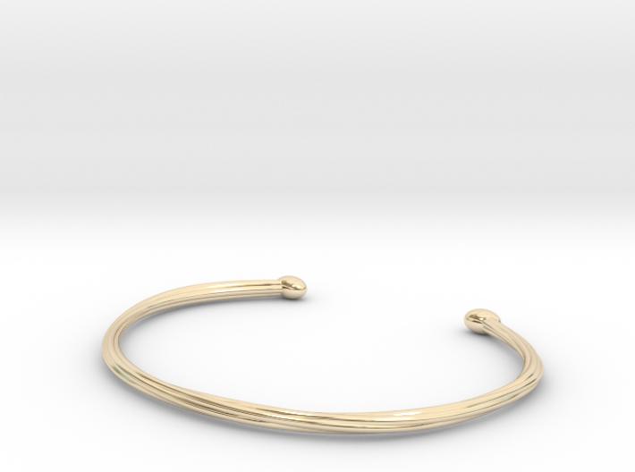 Rope cuff bracelet 3d printed