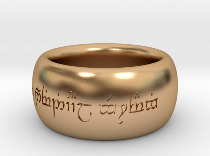 """One Ring from """"The Lord of the Rings"""" with individ 3d printed"""