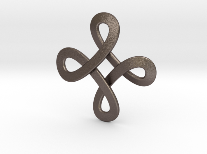 Loops Viking Pendant 3d printed