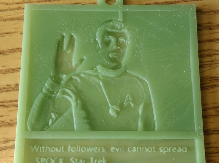 Mr Spock hanging lithophane Meme 3d printed