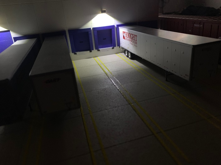 Modern LED Building Wall Mount Light - 20 Pack 3d printed LED Lights Installed