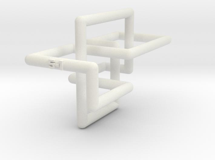 Cinqefoil Lattice Knot 3d printed
