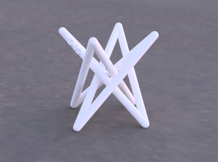 Hyperboloid Stick Knot 3d printed Example render of knot printed in White Versitile Plastic