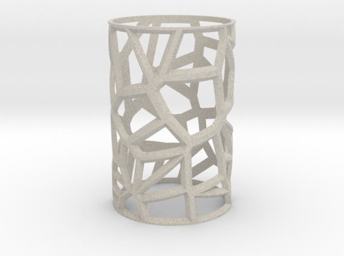 Voronoi Votive Shell 3d printed