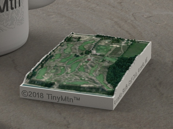 Arcadia Bluffs Golf Course, Michigan, 1:20000 3d printed