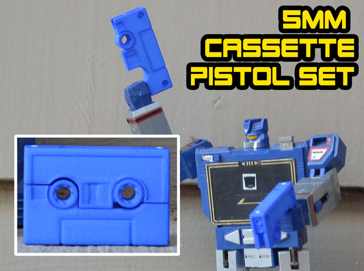 Cassette Pistol Set (5mm) 3d printed
