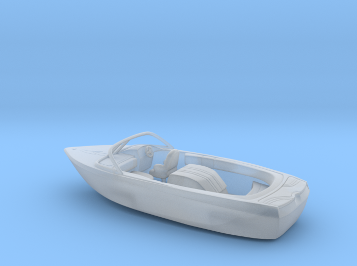Motorboat 1:100 scale 3d printed