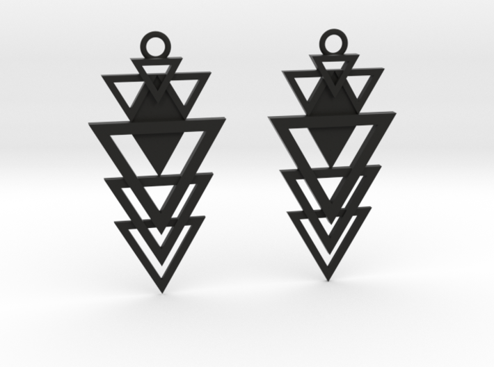 Geometrical earrings no.12 3d printed
