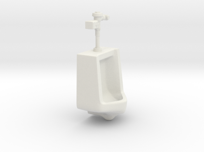 1:18 Scale Urinal with Auto Flush Unit 3d printed