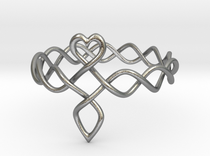 Celtic Love Ring 3d printed