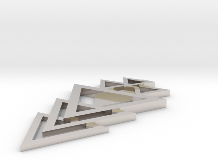 Geometrical pendant no.12 3d printed