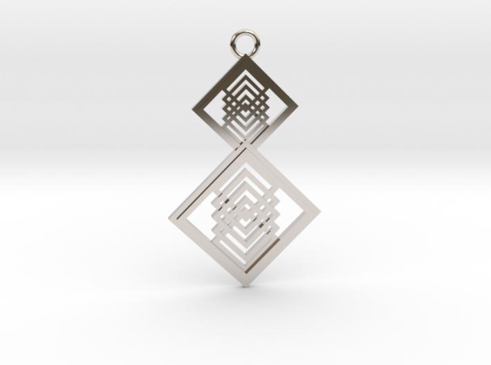 Geometrical pendant no.15 3d printed