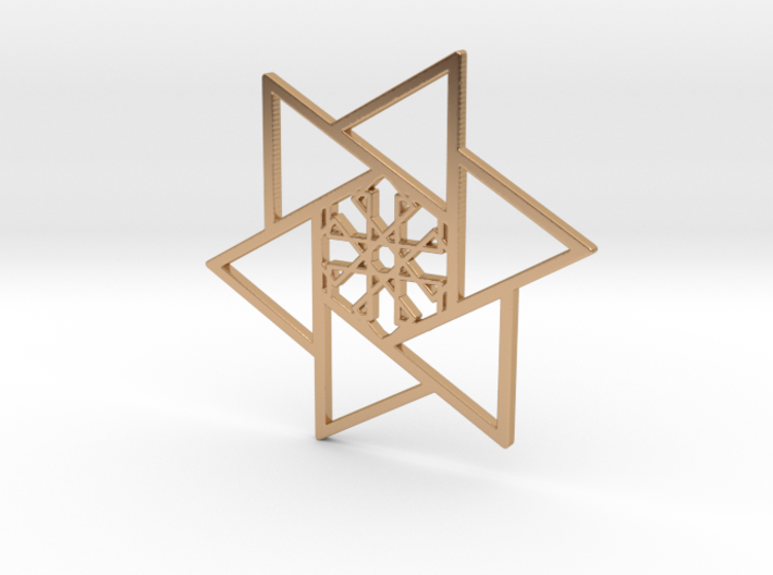 6p Star Pendant 3d printed