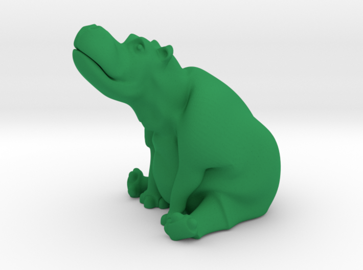 day dreaming hippo 3d printed