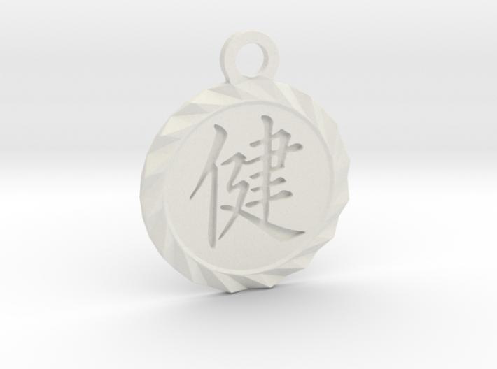 Kanji Health Pendant 3d printed White Natural Versatile Plastic