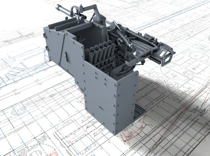 1/35 6-pdr (57mm)/7cwt QF MKIIA (MTB) x2 3d printed 3D render showing product detail