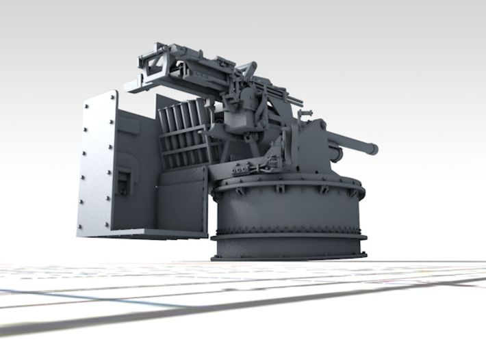 1/144 6-pdr (57mm)/7cwt QF MKIIA (MTB) x2 3d printed 3D render showing product detail