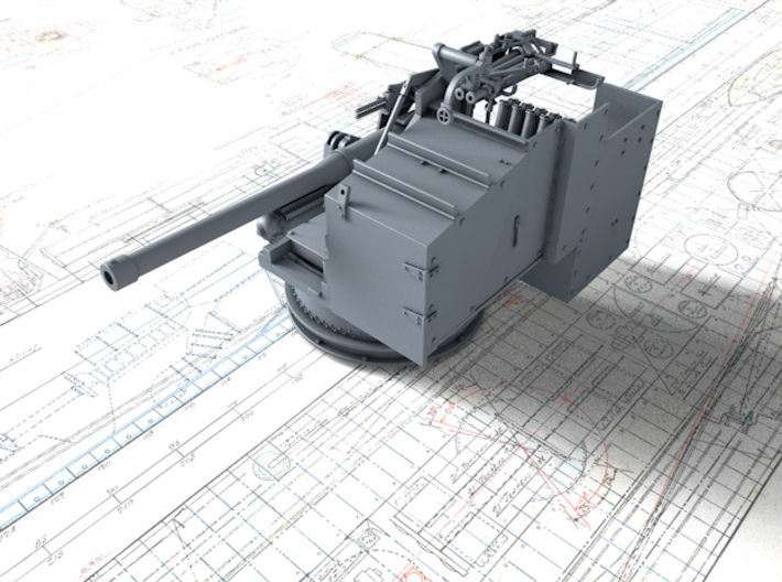 1/128 6-pdr (57mm)/7cwt QF MKIIA (MTB) x2 3d printed 3D render showing product detail