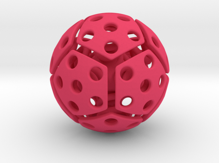 bouncing cat toy ball perforated size M 3d printed