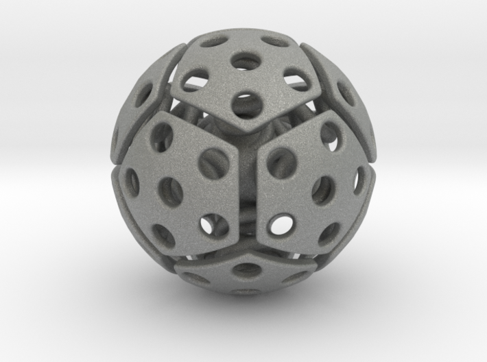 bouncing cat toy ball perforated size L 3d printed