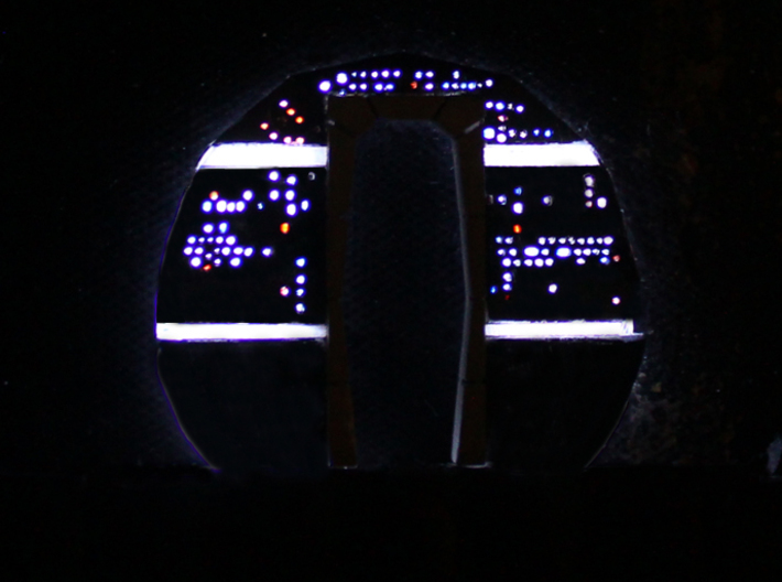 YT1300 MPC CABIN BACK WALL 3d printed Millennium Falcon back wall lighted with EL panel.