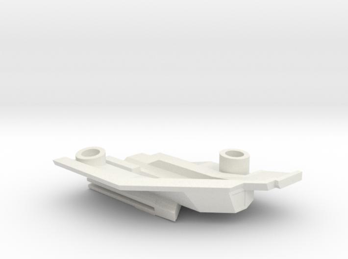 1/1000 Malachowski class - Left Lower Stern 3d printed