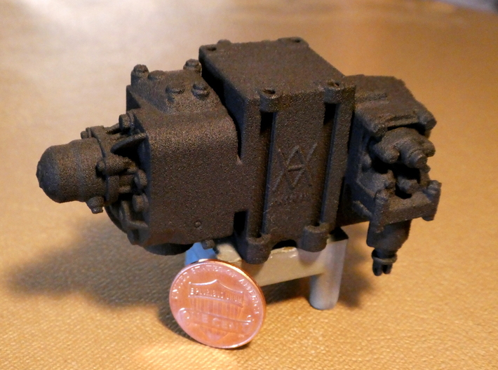 1/8 Scale AB Valve 3d printed The valve looks its best in Black Natural Versatile Plastic, shown here-- but feel free to order yours in White and paint it, too!
