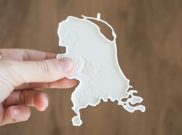 Netherlands Christmas Ornament 3d printed