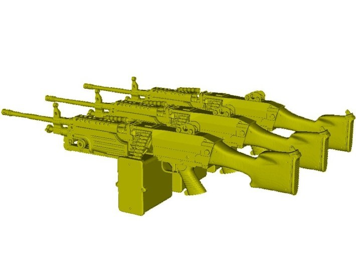 1/18 scale FN Fabrique Nationale M-249 Minimi x 3 3d printed