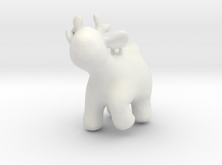 Cartoon deer keychain 2 3d printed