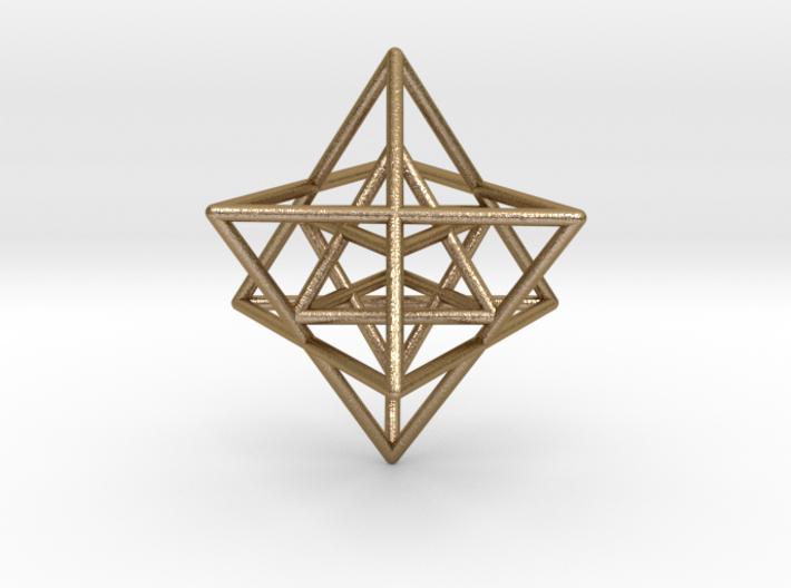 Sacred Geometry: Merkabah2 50mm 2 Nested Star Tetr 3d printed