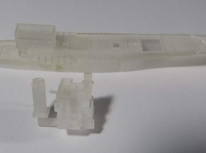 1/700 Survey Ship HMS Sharpshooter Superstructure 3d printed