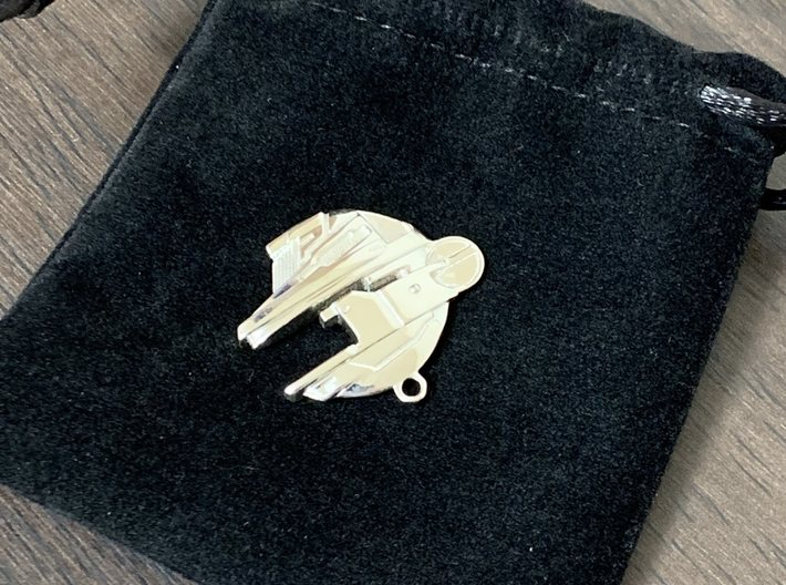BalticSeaAnomaly Keychain 3d printed Silver