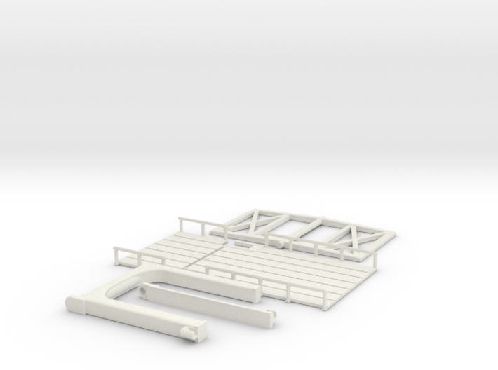 Hollandbruecke Bascule Bridge in Netherland 3d printed