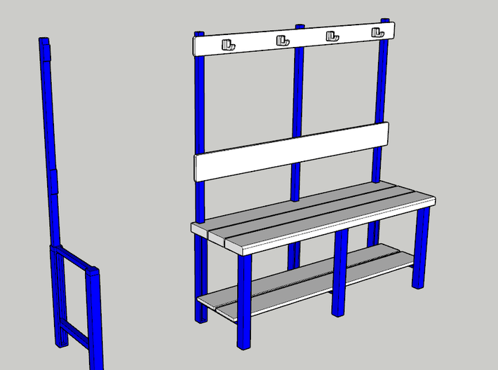 Part A Dressing room stool (for 1:10 figure) 3d printed