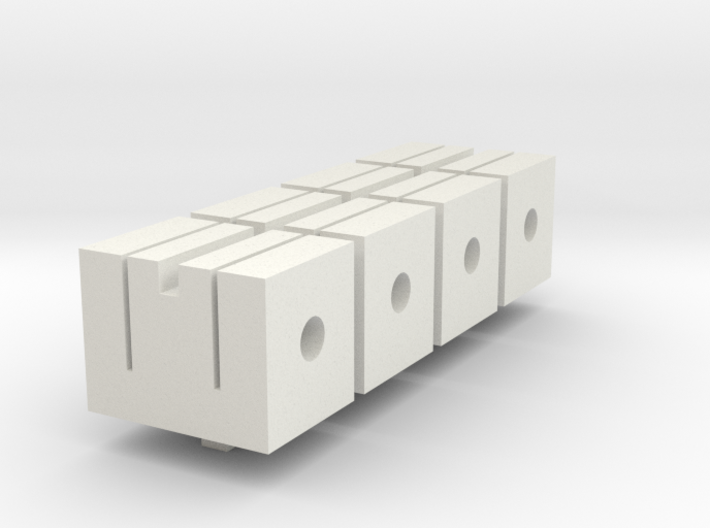 n scale flex track clamp set of 4 Gleisklammern 3d printed