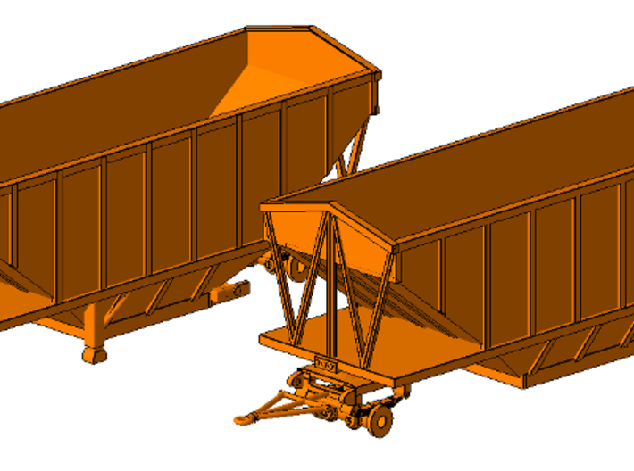 1/64th Wesco type 24' hopper bottom trailers 3d printed