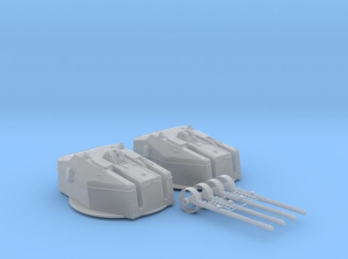 """1/96 HMS Tiger Class 6""""/50 (15.2cm) QF MKN5 Gun x2 3d printed 1/96 HMS Tiger Class 6""""/50 (15.2cm) QF MKN5 Guns x2"""