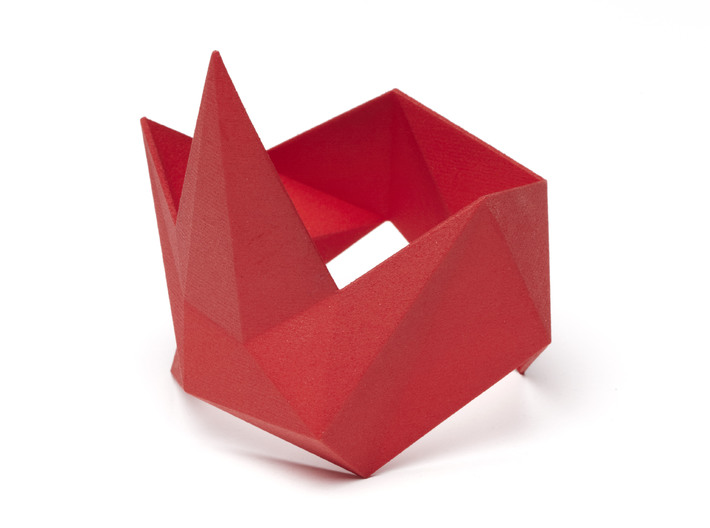 Bracelet Bluups ORIGAMI R 3d printed Bracelet Bluups ORIGAMI Right in Red