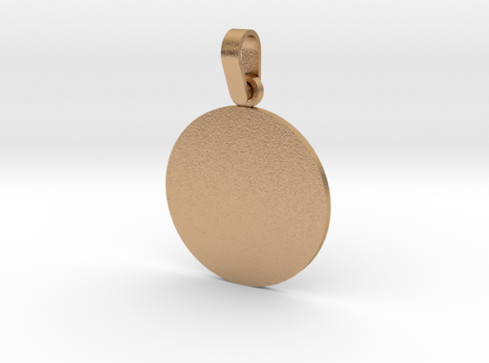 Pendant Base Round 1 Inch 3d printed