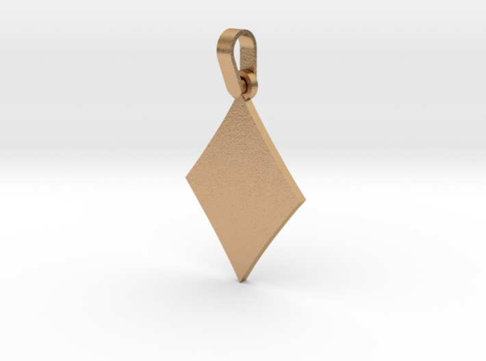 Black Diamond Suit Sign Pendant 3d printed