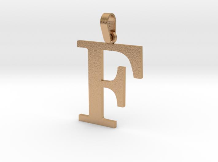 F Letter Pendant 3d printed