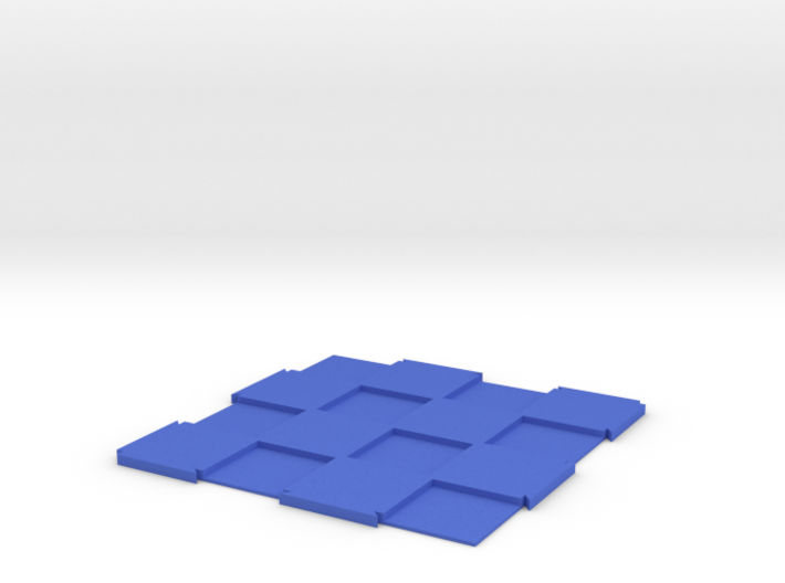 "Expandable Chess Board 4x4 with 1"" Squares 3d printed"
