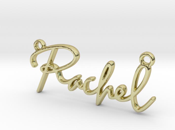 Rachel Script First Name Pendant 3d printed