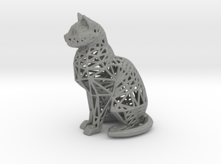 Wireframe Cat 3d printed