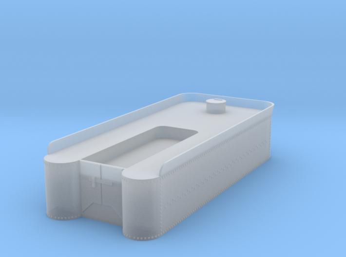 HOn3 tender tank 3d printed