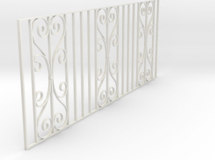 Dolls House Fence 1/24 scale 3d printed