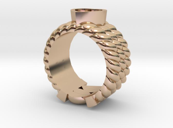 Through Ur Heart Ring 3d printed